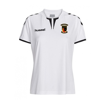 Clane United FC Core Women's Short Sleeve Poly Jersey - White  - Click to view a larger image