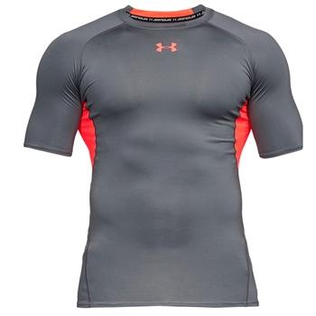 100c57d3636d Under Armour Mens HG Armour T-Shirt - Grey Orange