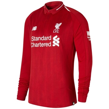 New Balance Liverpool LFC Home Jersey 18/19 L/Sleeve - Red  - Click to view a larger image