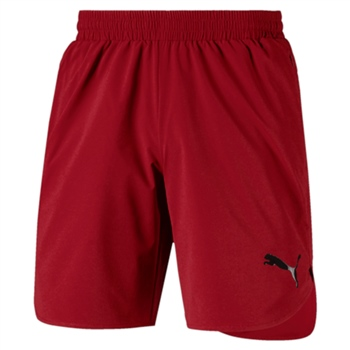 Puma Mens Evostripe Move Woven Shorts - Red Dahlia  - Click to view a larger image