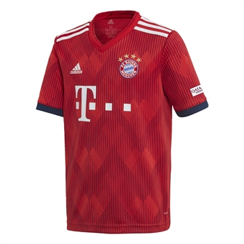 Adidas FC Bayern Munich Home Jersey 18/19 - Kids - Red  - Click to view a larger image