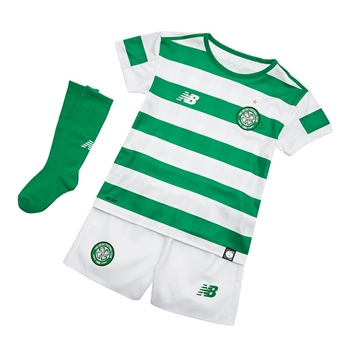 New Balance Celtic FC Infants Kit 18/19 - Green/White  - Click to view a larger image