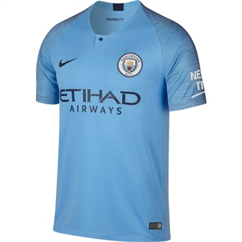 Nike Manchester City Home Jersey 18/19 - Sky  - Click to view a larger image