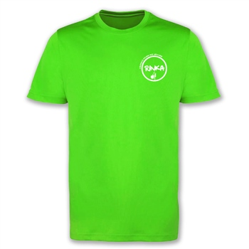 Rinka Mens  T-Shirt - Electric Green  - Click to view a larger image