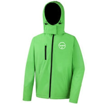 Rinka Gents Softshell Jacket w/Detachable Hood - Vivid Green  - Click to view a larger image