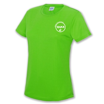 Rinka Ladies  T-Shirt - Electric Green  - Click to view a larger image