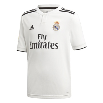 Adidas Real Madrid Home Jersey 18/19 - Kids - White  - Click to view a larger image