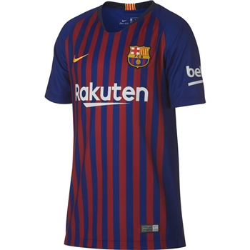 Nike Barcelona FCB Home Jersey 18/19 - Kids - Royal/Burgundy  - Click to view a larger image