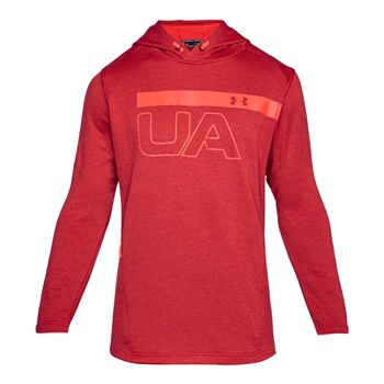 Under Armour Mens MK1 Graphic PO Hoodie - Red  - Click to view a larger image