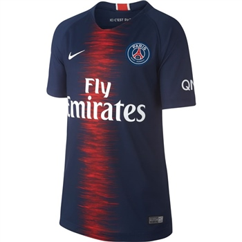 Nike Paris PSG Home Jersey 18/19 - Kids - Navy/Red  - Click to view a larger image