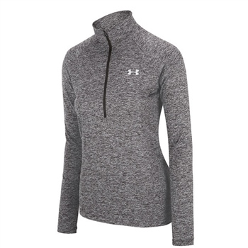 Under Armour Womens Tech Twist 1/2 Zip Top - Grey  - Click to view a larger image