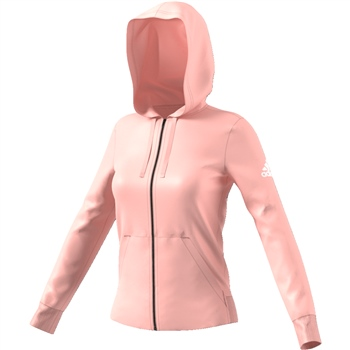 Adidas Womens Essential Full Zip Hoodie - Pink  - Click to view a larger image