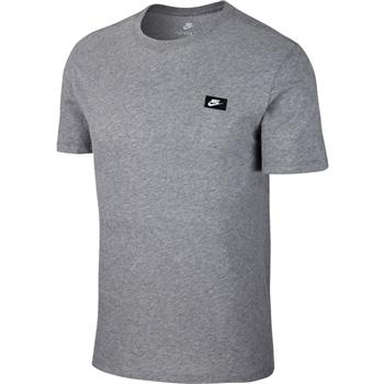 Nike Mens Sportwear Tee - Shoebox Logo - Grey  - Click to view a larger image