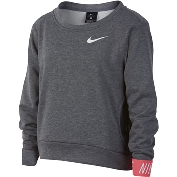 Nike Girls Dry Studio Pullover - Grey  - Click to view a larger image