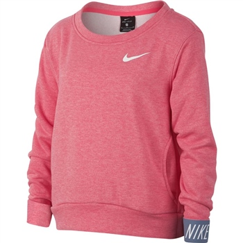 Nike Girls Dry Studio Pullover - Pink  - Click to view a larger image