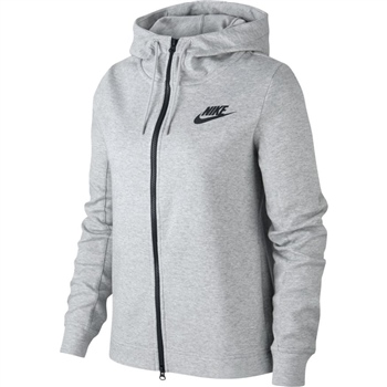 Nike Womens AV15 Full Zip Hoodie - Grey/Black  - Click to view a larger image