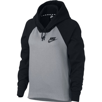 Nike Womens AV15 Hoodie - Grey/Black  - Click to view a larger image