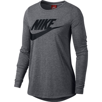 65931b571e Nike Womens Essential LS Top HBR - Grey Black - Click to view a larger