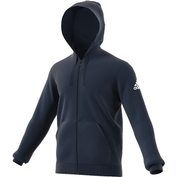 Adidas Mens Base Full Zip Hoodie - Navy  - Click to view a larger image