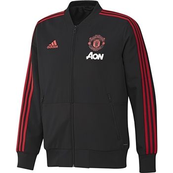 Adidas Manchester Utd Presentation Jkt 18/19 - Black/Red/Pink  - Click to view a larger image
