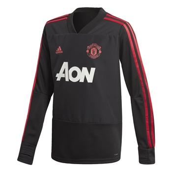 Adidas Manchester Utd Training Top 18/19 - Black/Red/Pink  - Click to view a larger image
