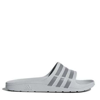 Adidas Mens Duramo Slides - Grey/Grey