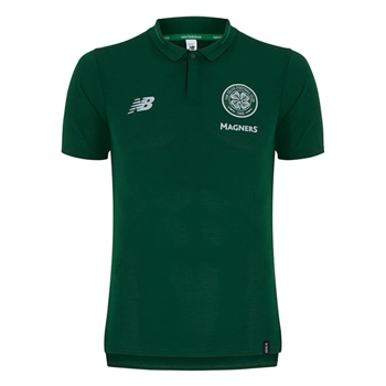 New Balance Celtic FC Leisure Polo 18/19 - Green  - Click to view a larger image