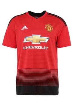 Adidas Manchester Utd Home Jersey 18/19 - Red/Black  - Click to view a larger image