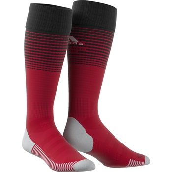 Adidas Manchester Utd Home Sock 18/19 - Red/Black  - Click to view a larger image
