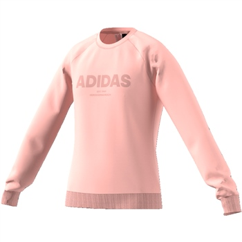 Adidas Girls All Caps Sweat - Coral  - Click to view a larger image