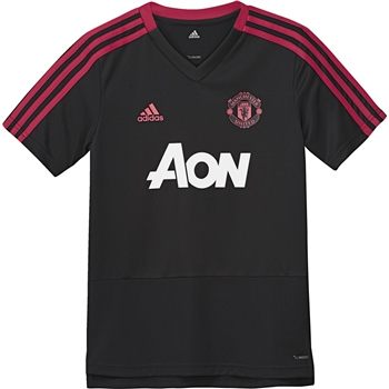 Adidas Kids Man Utd Training Jersey - Black/Red/White  - Click to view a larger image