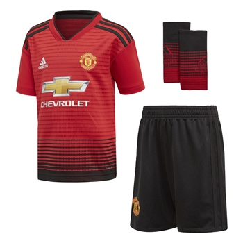 fc1c0a402 Adidas Manchester Utd Mini Home Kit 18 19 - Red White - Click to
