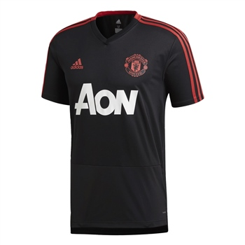 Adidas Mens Man Utd Training Jersey - Black/Red/White  - Click to view a larger image