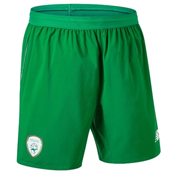 New Balance Ireland FAI Away Shorts 18/19 - Kids - Green/Orange/White