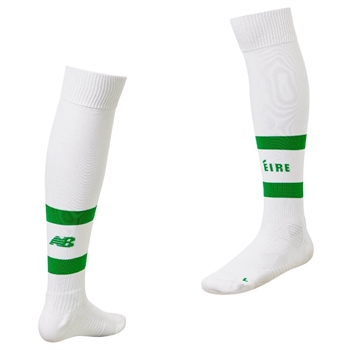 New Balance Ireland FAI Away Sock 18/19 - Kids - White