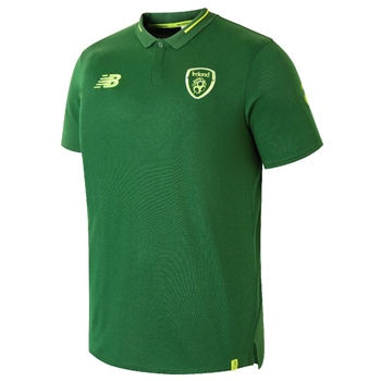 New Balance Ireland FAI Elite Leisure Polo - Green
