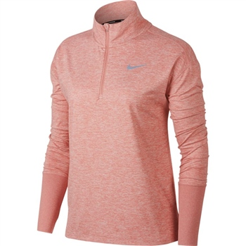 Nike Womens Element H/Zip Top - Pink  - Click to view a larger image