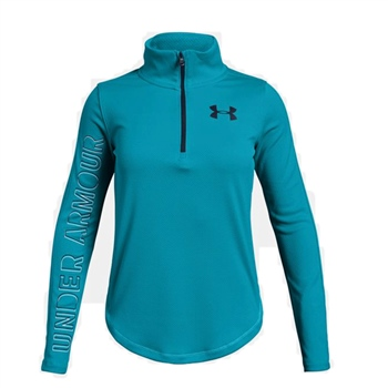 Under Armour Girls Tech 1/2 Zip Top - Sky  - Click to view a larger image