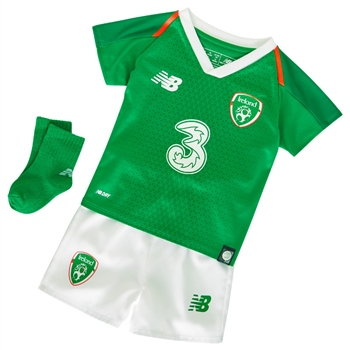 New Balance FAI Ireland Home Baby Kit 18/19 - Green/Orange/White