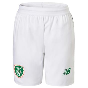 New Balance FAI Ireland Home Shorts 18/19 - Kids - White