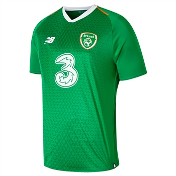 377f9dc5f New Balance FAI Ireland Kids Home Jersey 18 19 S S - Green Orange ...