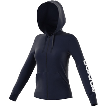 Adidas Womens Essentials Linear FZ Hoody - Navy/White