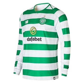 c256054a2 New Balance Celtic FC Home Jersey 18 19 L Sleeve - Green White ...