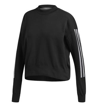 Adidas Womens Id Knit Sweat Top - Black