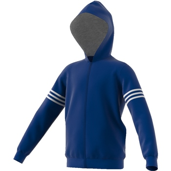 Adidas Boys SID Full Zip Hoodie - Royal/White  - Click to view a larger image