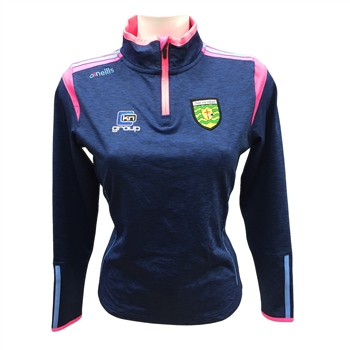 ONeills Donegal Ladies Solar 1/2 Zip Top - MelangeNavy/Pink/Sky  - Click to view a larger image
