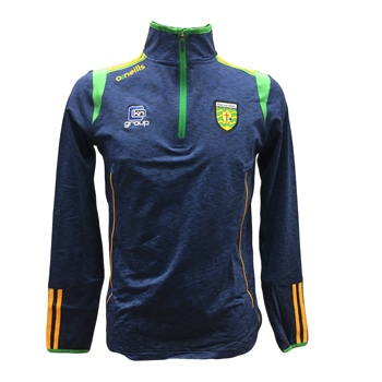 ONeills Donegal Solar 1/2 Zip Top - MelangeNavy/Emer/Amb  - Click to view a larger image
