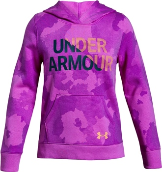 Under Armour Girls Rival Hoody - Purple  - Click to view a larger image