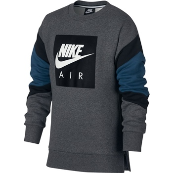 Nike Boys Air Crew Top - Black/Grey  - Click to view a larger image