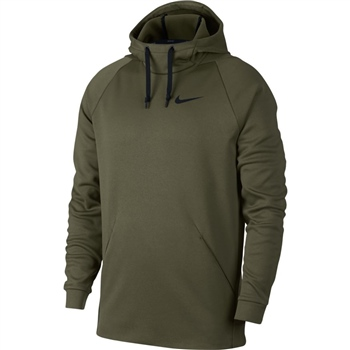 Nike Mens Therma Pullover Hoodie - Olive  - Click to view a larger image